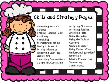 Cooking With Comprehension: Create a Comprehension Notebook