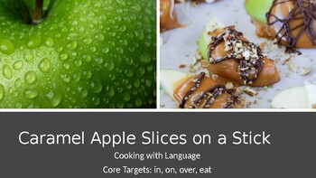 Cooking With Kids: Caramel Apple Slices on a Stick