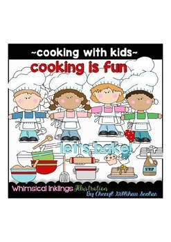 Cooking With Kids Clipart Collection