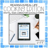 Cooking Words Digital Task Cards for Distance Learning w/