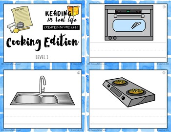Cooking Words Task Cards {Reading in Real Life}