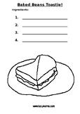 Cooking Worksheet - Baked Beans Toastie