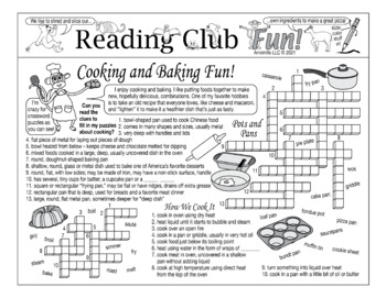 Cooking and Baking Fun Two-Page Activity Set