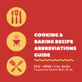 Cooking and Baking Recipe Abbreviations Guide