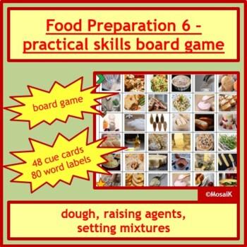 Cooking: Food preparation skills game - dough, raising agents, setting mixtures