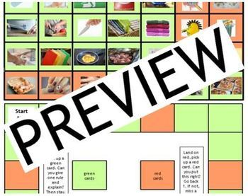 Cooking, health: Personal hygiene and safety board game, incl. 35 cards