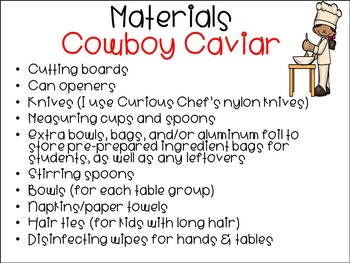Cooking in the Classroom - Cowboy Caviar