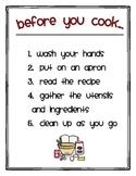 Cooking in the Classroom Posters