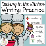 Cooking in the Kitchen - Writing Practice - Word Cards, Me