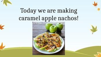 Cooking lesson-Easy Caramel Apple Nachos