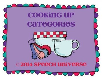Cooking up Categories
