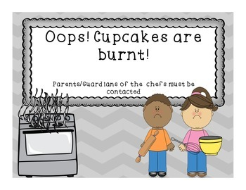 "Cooking up some ""sweet"" behavior! Behavior Chart"