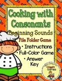 Cooking with Consonants File Folder Game
