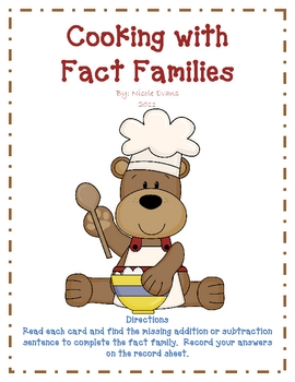 Cooking with Fact Families