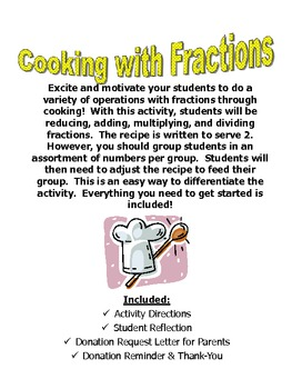 Cooking with Fractions: A Tasty Way to Perform Computation with Fractions