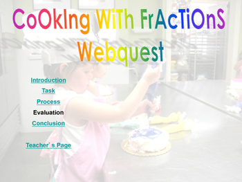 Cooking with Fractions Webquest
