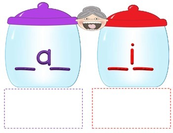 Cooking with Grandma: CVC, CVCe, sh-, ch-, -ck Word Pattern Literacy Center