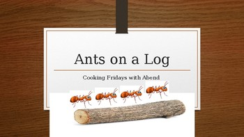 Cooking with Kids: Ants on a Log