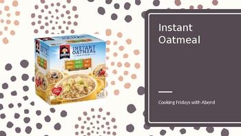 Cooking with Kids: Oatmeal