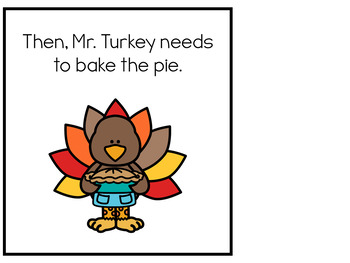 Cooking with Mr. Turkey (Thanksgiving) Interactive Books