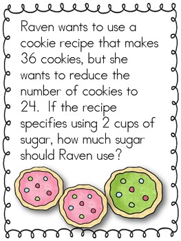 Cooking with Proportions Stations - Math Centers