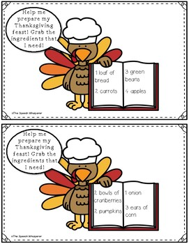 Cooking with Turkey Tom: An Auditory Comprehension Thanksgiving Activity