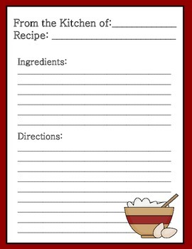 Homeschool Recipe Worksheets: Cooking with a Purpose