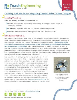 Cooking with the Sun: Comparing Yummy Solar Cooker Designs