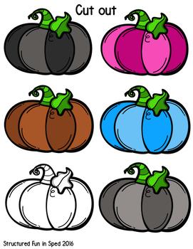 Pumpkin Colors File Folder Game