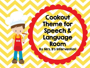 Cookout Theme for Speech and Language Room