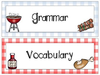 Cookout Themed Focus Board Titles