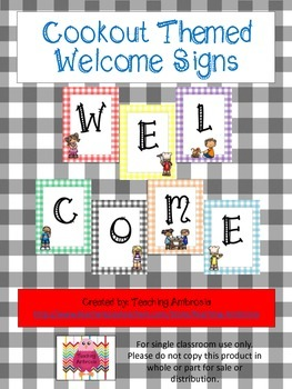 Cookout Themed Welcome Sign