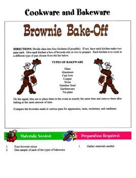 Cookware & Bakeware Game / Activity