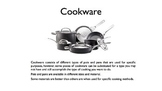 Cookware PowerPoint
