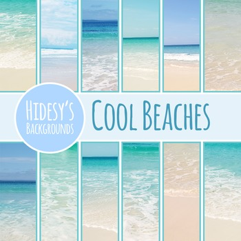 Cool Beach Digital Papers / Backgrounds / Photos for Comme