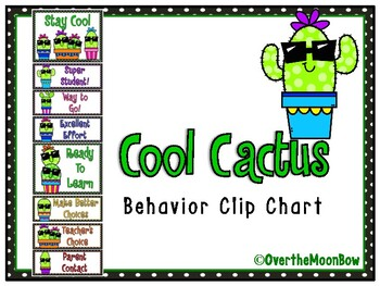 Cool Cactus | Behavior Clip Chart