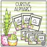 Cool Cactus Classroom Alphabet in Cursive
