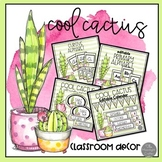 Cool Cactus EDITABLE Classroom Decor BUNDLE