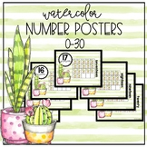 Cool Cactus Number Posters 0-30