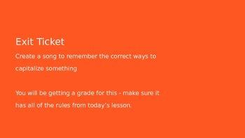Cool Capitalization - Grammar Fun