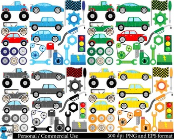 Cool Cars - Digital Clip Art Personal and Commercial Use 120 images cod180