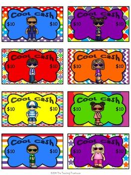 """Kids & Colors"" Cool Cash ~ Behavior Bucks, Classroom Money/Rewards"
