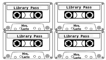 Cool Cassette Library Pass - Easy to Edit