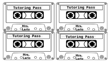 Cool Cassette Tutoring Pass - Easy to Edit