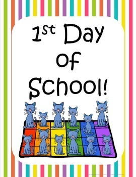 Cool Cat Back to school Printables pack