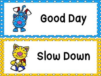 Cool Cat Behavior Clip Chart