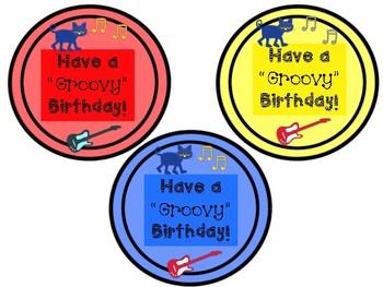 Cool Cat Birthday Labels