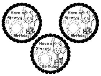 Cool Cat Birthday Labels