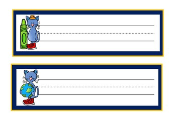 Groovy Cool Cat Theme | Desk Name Plates