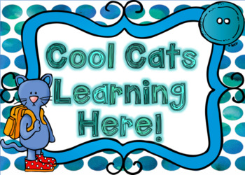 Cool Cat Classroom Decor- Sea Breeze